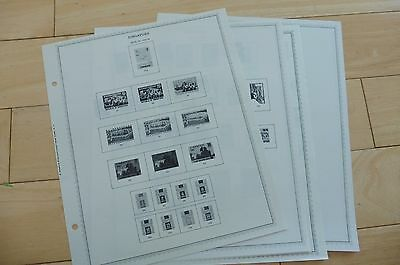 K47 Lot Of 6 Singapore Minkus Stamp Pages 1966-1977 W/ 4 Stamp To Be Renowned Both At Home And Abroad For Exquisite Workmanship Nepal Skillful Knitting And Elegant Design