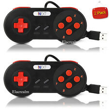 2× SNES USB Controller For PC/Mac Super Nintendo Games Retro Famicom Gamep