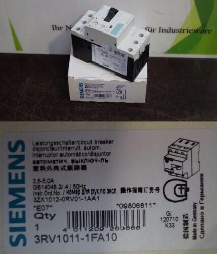 Siemens 3rv1011-1fa10 Sirius interruptor de potencia sin usar