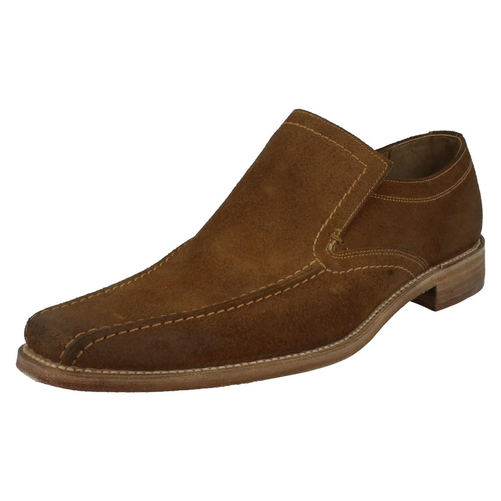 Mens Loake Formal Distressed Suede Schuhes - Leon