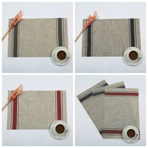 Placemats Set of 4 Resistant Washable Place Mats Durable Non-Slip Kitchen Dining