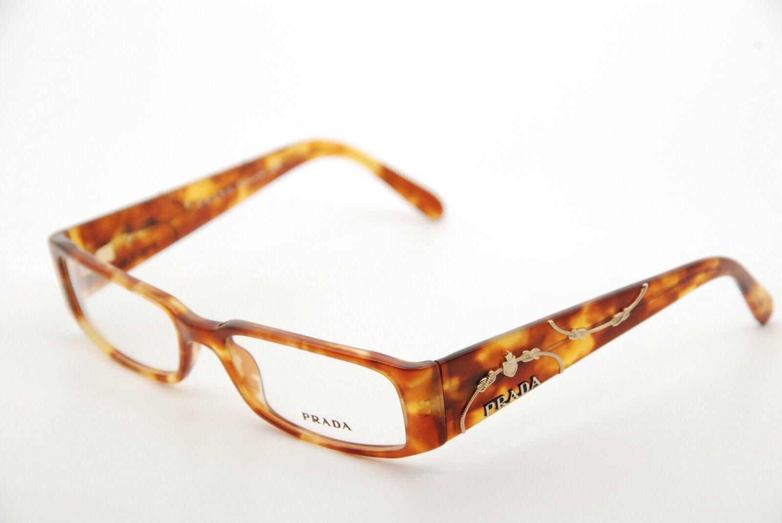 Authentic Prada VPR07I 4BW-1O1 Havana 53mm Frames Eyeglasses RX-able Italy