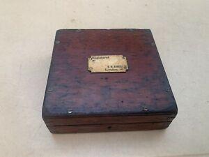 19th C Antique Old F.H. Ayres London Mahogany Sandown Horse Racing Game Case Box