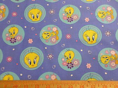 Tweety Bird Polka Dot Fabric Cotton yard V.I.P Cranston Village Children flower