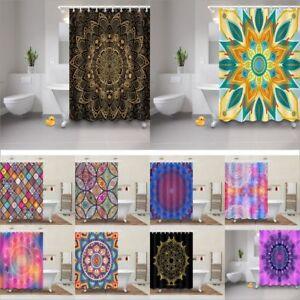 Image Is Loading Mandala Hippie Gypsy Waterproof Fabric Bathroom Shower Curtain