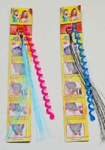 10 Set Haardekoration Haarsträhne Spirale Mitgebsel Kindergeburtst<wbr/>ag Tombola Neu