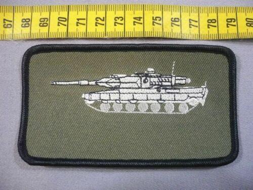 weiß auf oliv mit Wunschtext Bundeswehr Namenschild mit Panzer Leopard 2A5