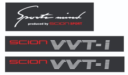 SCION VVTI SPORTMIND COMBO vinyl Sticker Decals