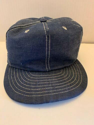 VINTAGE LOUISVILLE, MFG USA FULL DENIM TRUCKER HAT