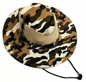 Desert-Camo-Vented-Fishing-Hunting-Hat-with-Strap-Free-Shipping