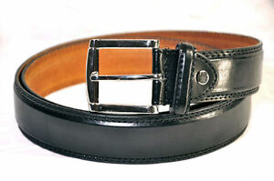 MEN'S CASUAL DRESS JEANS GENUINE LEATHER BELT
