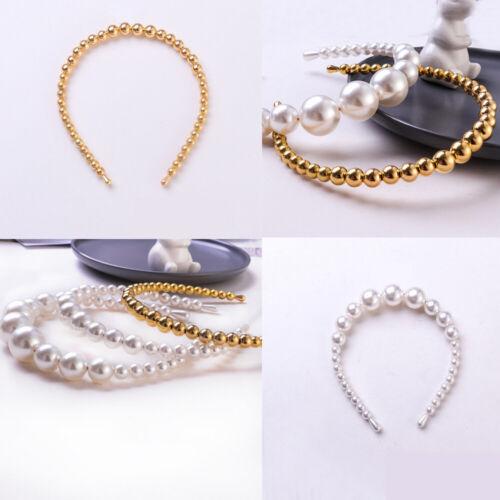 Women Girls Elegant Big Pearl Headband Hairband Hair Hoop Wedding Accessories