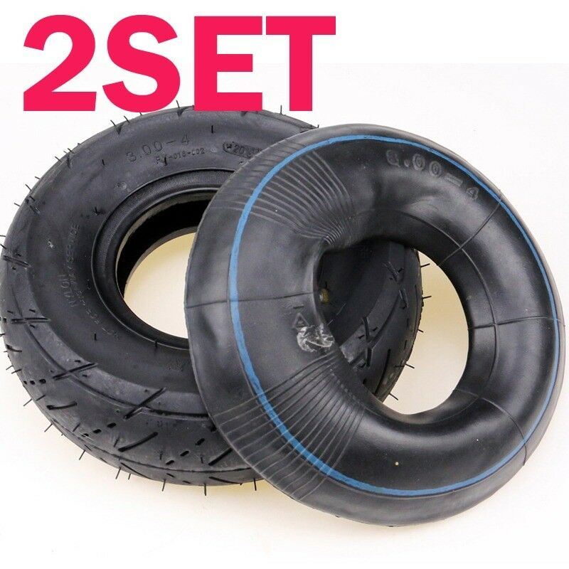 2 Sets Knobby Tire +Inner TUBE 9x3.50 3.00-4 3.004 Scooter Motorcycle Dirt Bike