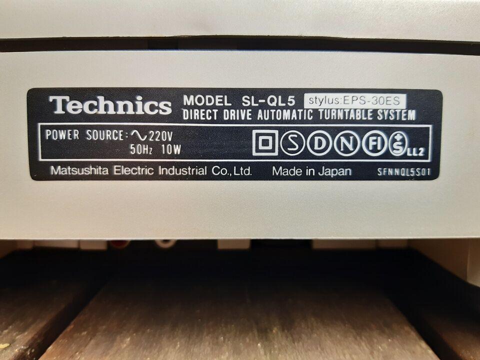 Pladespiller, Technics, Model SL-QL5 stylus: EPS-30ES