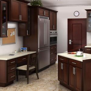 Details about Mocha Shaker 10x10 Ready to Assemble (RTA) Kitchen Cabinet Set