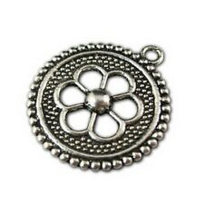 25 pcs Tibetan Silver motif crafted ROUND spacers FC749
