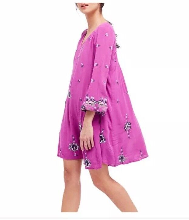 Free People Oxford Embroidered Mini Dress. Size XS.