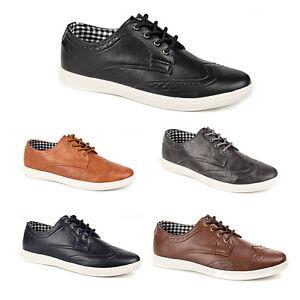 Details about Mens Casual Smart Lace Up Trainers Brogue Shoes Plimsolls 7 8 9 10 11 12