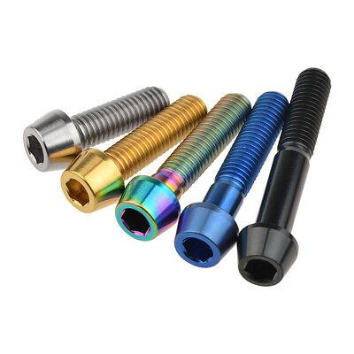 Titanium Bolt M8x15 20 25 30 35 40 45 50 70mm Taper Head Screws Ti Hex Fasteners
