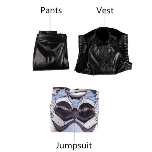Alita batalla Angel Chica Mono Chaleco Pantalones mujeres Enterizo ceñido Disfraz de utilería apretado
