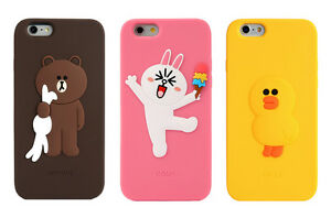 low priced 4227d d8bb9 Details about LINE FRIENDS BROWN & SALLY Character Silicone Case For Apple  iPhone 6s / 6s Plus