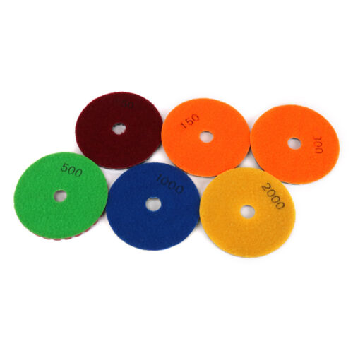 """4inch Diamond Polishing Pads Dry//Wet Buffing Disc For Granite Concrete 1//4/"""" Thic"""