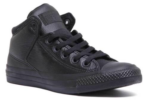 Trainers Street High All Leather Star Taylor Women Black 3 Sizes Converse Chuck 7wqXzFF