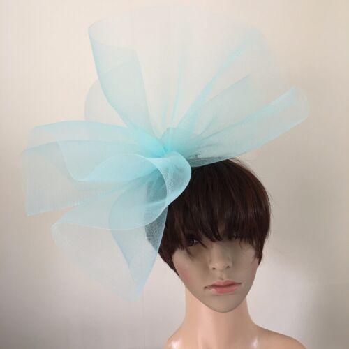 Duck Egg Light Bleu Layette Feather Headband Fascinator Millinery mariage chapeau
