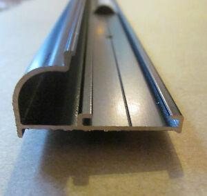 96 Quot Black Aluminum Vinyl Insert Type Gutter Drip Rail Trim
