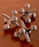 Set Of 3 Retro Iron Jacks Use As Paperweights Bookends Shelf Display Nostalgia