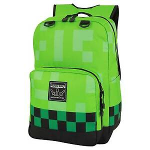 Minecraft Creeper Kids Green School Bag - Large 18