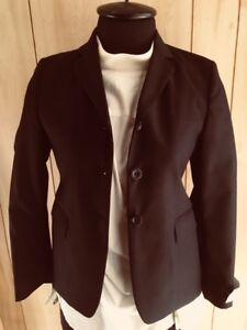 Nouvelle Mode Elite Navy Plaid Filles Chasse Manteau Taille 14r * Neuf * 100% Laine-afficher Le Titre D'origine Gagner Une Grande Admiration