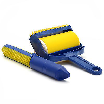 Sticky Buddy Reusable Picker Upper Rinse Roller Built-in Rubber Fingers Pet Hair