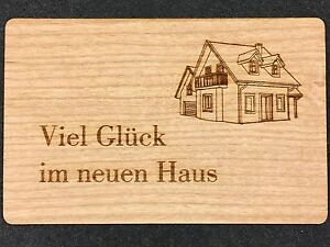 gru karte aus holz geschenk karte geschenkkarte einzug zuhause heim haus umzug ebay. Black Bedroom Furniture Sets. Home Design Ideas