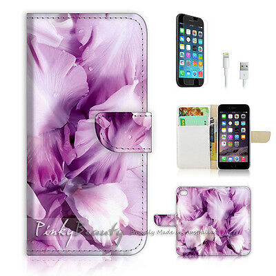 ( For iPhone 6 Plus / iPhone 6S Plus ) Case Cover Abstract Purple Flower P0454