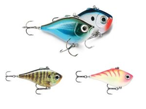 Rapala RIPPIN RAP 5cm 9g Sinking Perch Pike Fishing Rattle VMC Hooks Bait