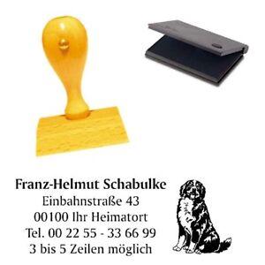 Adressenstempe<wbr/>l « BERNER SENNENHUND 2 » mit Kissen - Hundeschule Haustier