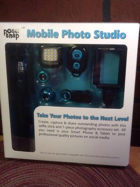 Poser Snap Mobile Photo Studio Selfie Stick Tripod Remote Flash