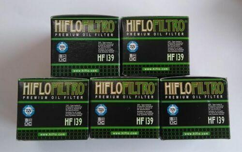 Hiflofiltro EO Quality Oil Filters (HF139 x 5) fits Suzuki DRZ400 (2000 to 2018)