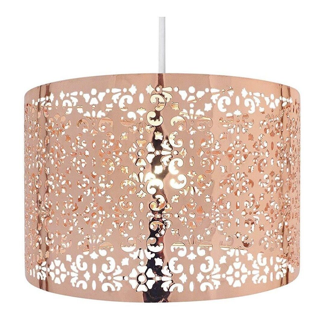 Details about Chic Laser Cut Copper Ceiling Metal Light Shade Fitting  Pendant Lamp Bedroom