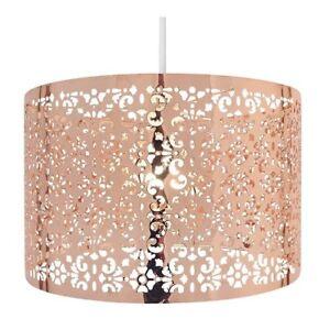 Chic Laser Cut Copper Ceiling Metal Light Shade Fitting Pendant Lamp Bedroom Ebay