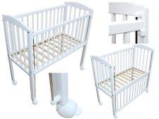 Beistellbett / Kinderbett 90x40 cm ohne Matratze + Räder weiss höhenverstellbar