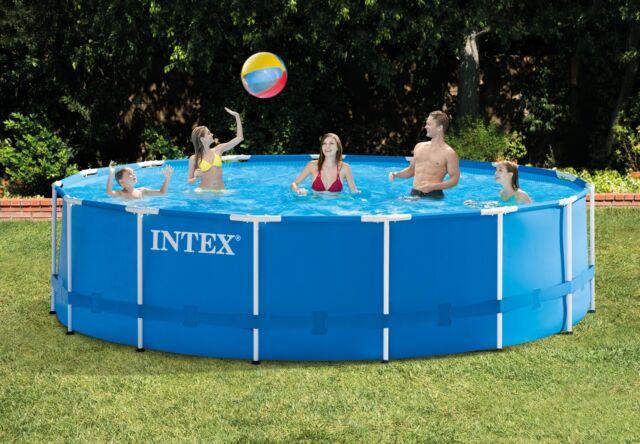 Intex Above Ground Swimming Pool Set with Maintenance Swimming Pool ...