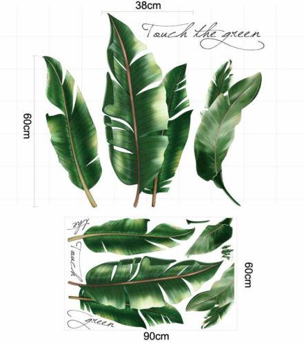 Tropical Banana Leaves Removable Wall Sticker Vinyl Decal Kid Nursery Decor Gift