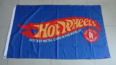 New Blue Hot wheels Flag Hotwheels car banner flags 3X5 Ft free shipping