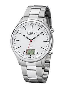 Regent montre homme analogique et numérique funkuhrwerk avec acier inoxydable-bracelet 1880.44.90