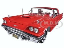 1960 FORD THUNDERBIRD HARD TOP MONTE CARLO RED 1/18 DIECAST CAR BY SUNSTAR 4306