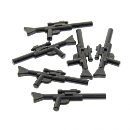 6x Lego Figuren Waffe Gewehr schwarz Blaster lang Star Wars 4498712 57899
