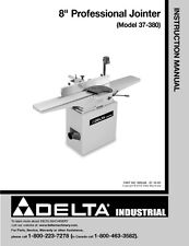 "Delta 37-380 8"" Profession Jointer Instruction Manual"