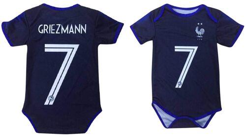 Kitbag Griezmann Antoine France #7 Soccer Jersey Baby Romper Infant Toddler...